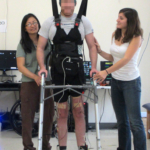 Paraplegic man walks with own legs again