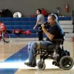 Shooting action sports photography as a quadriplegic