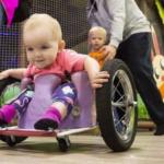 Edmonton toddler a whiz in homemade wheelchair