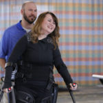 Step by step: Woman regains mobility with exoskeleton