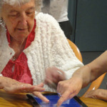 Engaging older adults through touch tablets