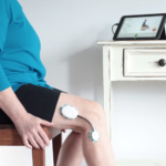 Home monitored rehab following total knee replacement