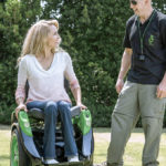 Leaning into the Ogo – seated Segway