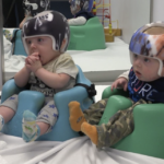 Twin babies get helmets from Mary Free Bed